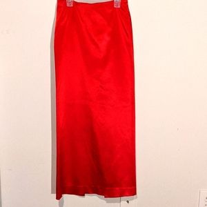 Maria Bianca Nero Red Stretchy Sateen Skirt